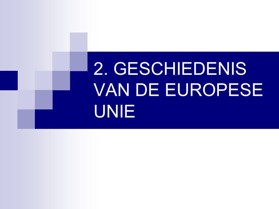2. GESCHIEDENIS VAN DE EUROPESE UNIE