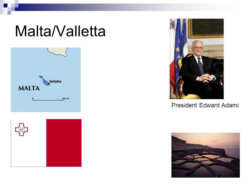 Malta/Valletta President Edward Adami