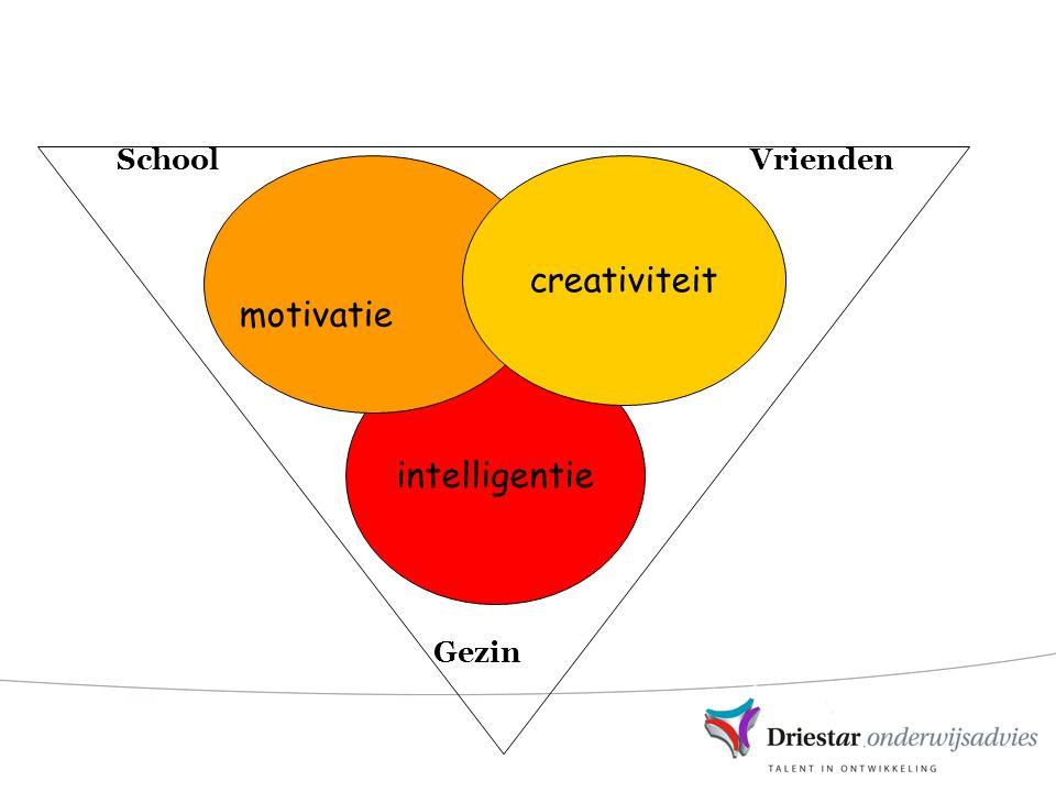 SchoolVrienden Gezin intelligentie creativiteit motivatie