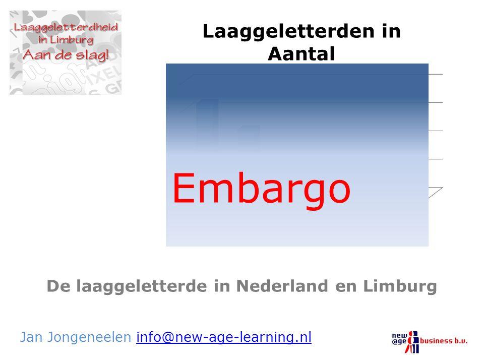 De laaggeletterde in Nederland en Limburg Jan Jongeneelen info@new-age-learning.nlinfo@new-age-learning.nl Embargo