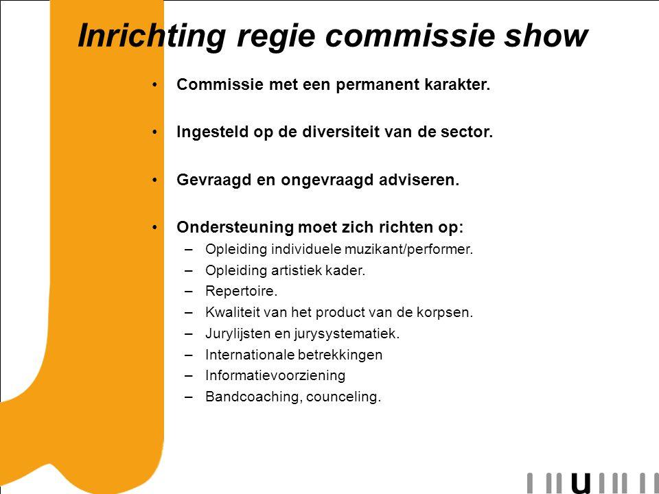 Inrichting regie commissie show Commissie met een permanent karakter.