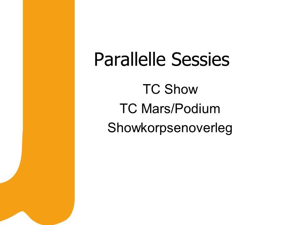 Parallelle Sessies TC Show TC Mars/Podium Showkorpsenoverleg