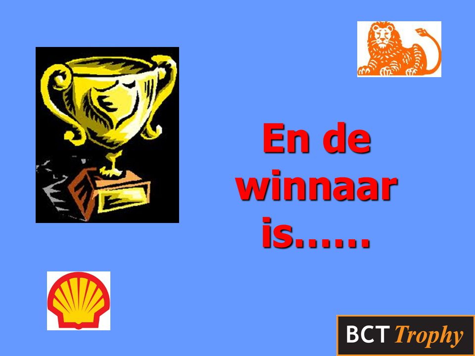 En de winnaar is……