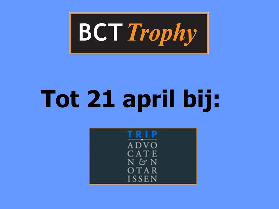 Tot 21 april bij:
