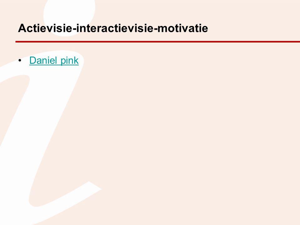 Actievisie-interactievisie-motivatie Daniel pink