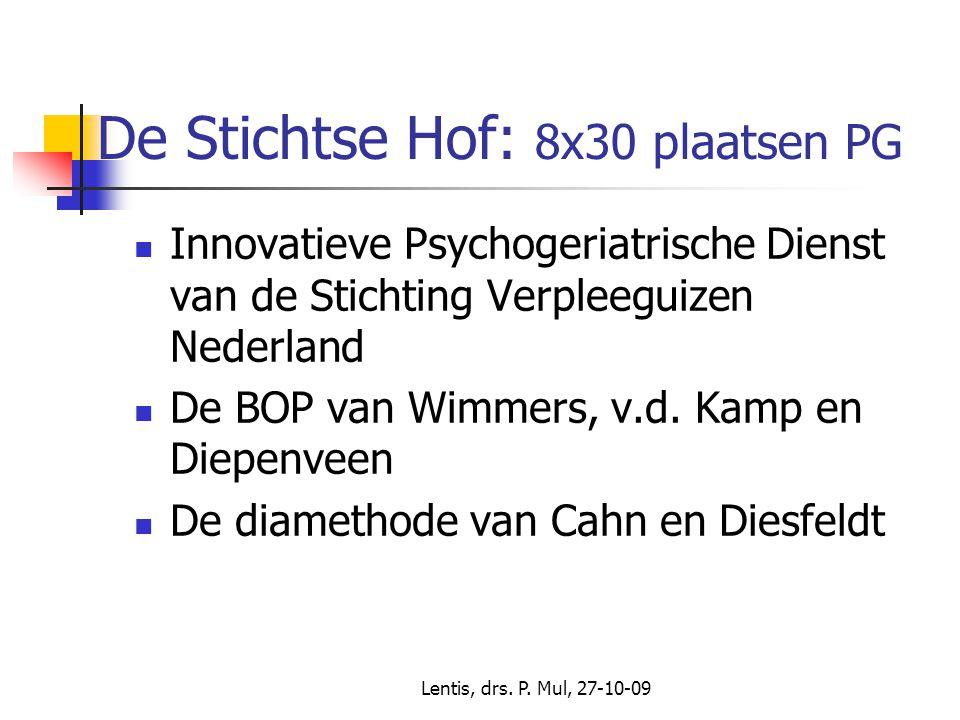 Lentis, drs.P. Mul, 27-10-09 De Stichtse Hof: wat deed ik daar.
