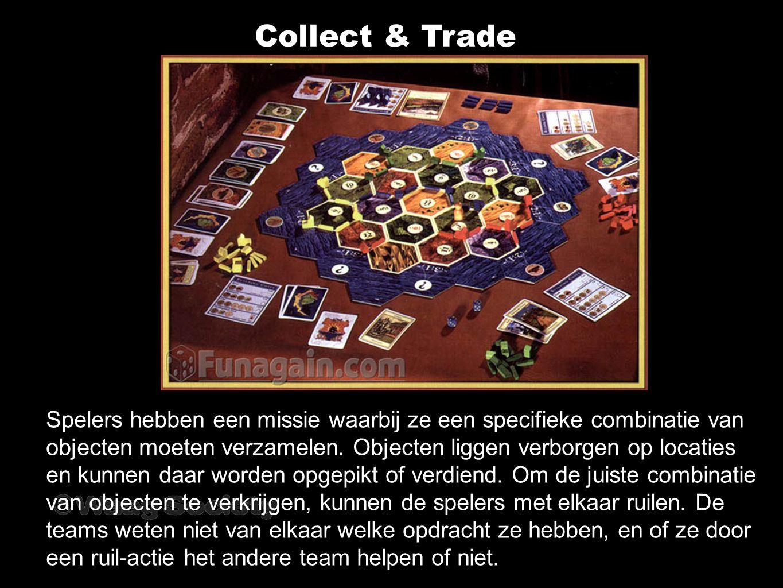 Collect & Trade Spelers hebben een missie waarbij ze een specifieke combinatie van objecten moeten verzamelen.