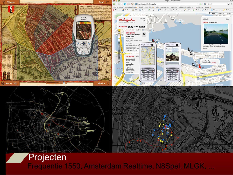 Projecten Frequentie 1550, Amsterdam Realtime, N8Spel, MLGK,...