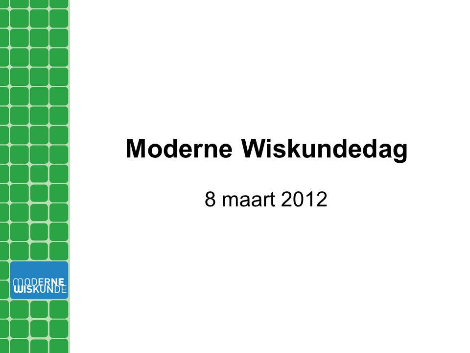 Moderne Wiskundedag 8 maart 2012