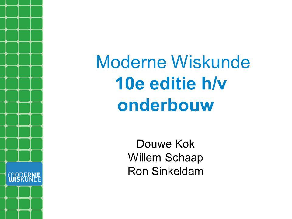 Moderne Wiskunde 10e editie h/v onderbouw Douwe Kok Willem Schaap Ron Sinkeldam