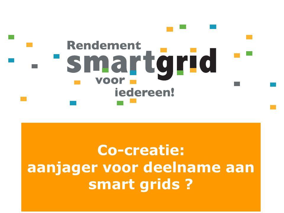 Co-creatie: aanjager voor deelname aan smart grids ?