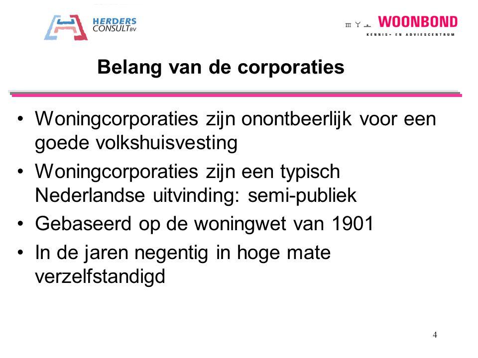Woningcorporaties zijn onontbeerlijk voor een goede volkshuisvesting Woningcorporaties zijn een typisch Nederlandse uitvinding: semi-publiek Gebaseerd