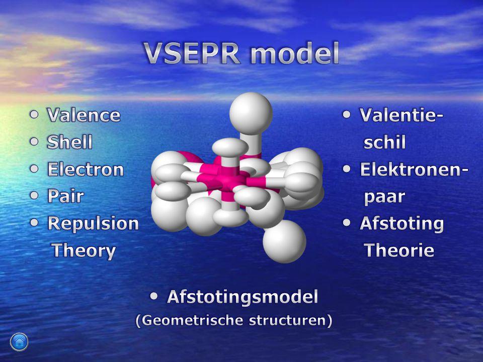 Valentie- Valentie- schil schil Elektronen- Elektronen- paar paar Afstoting Afstoting Theorie Theorie