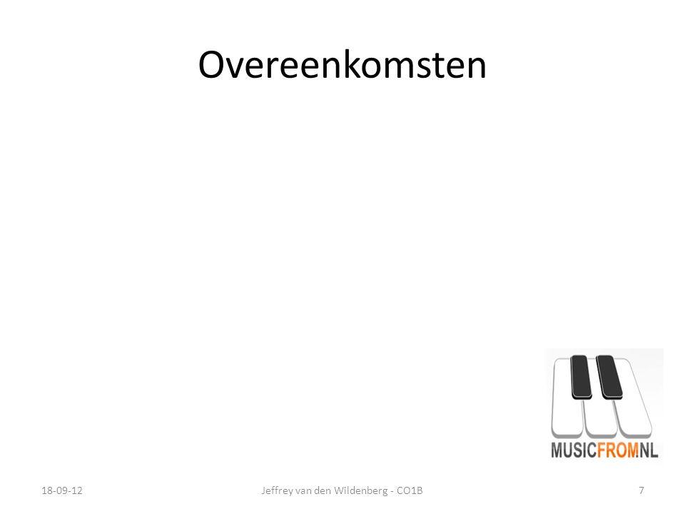 Overeenkomsten 18-09-12Jeffrey van den Wildenberg - CO1B7