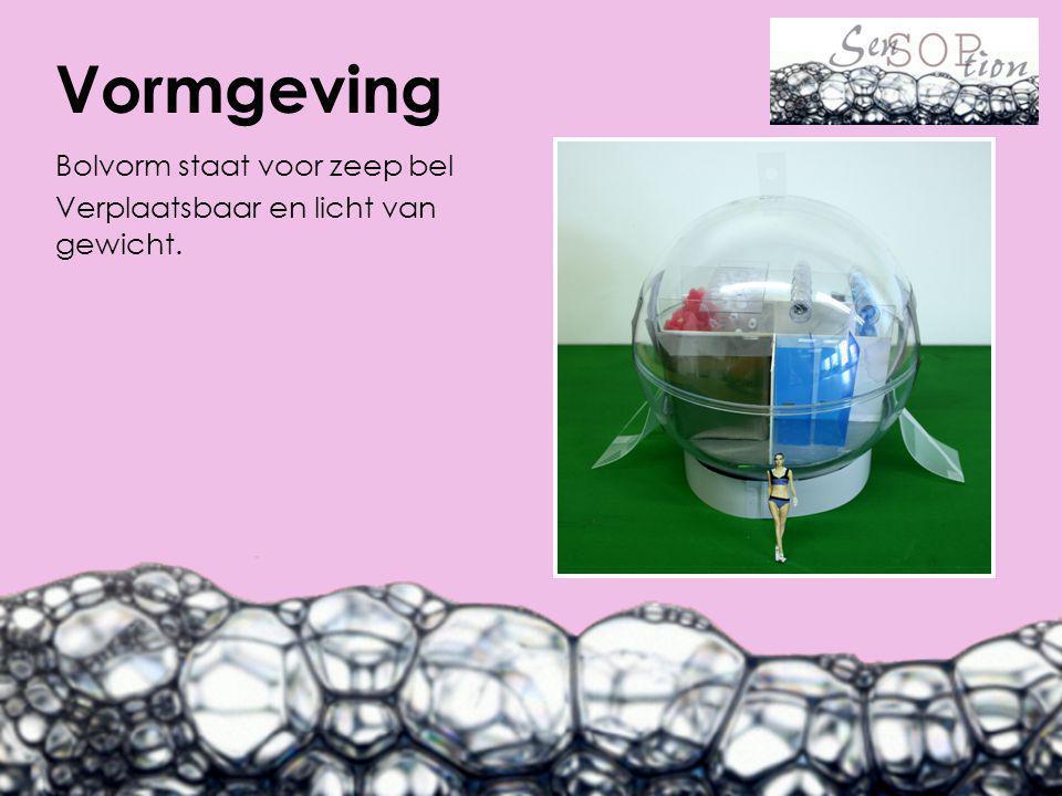 Bolvorm staat voor zeep bel Verplaatsbaar en licht van gewicht. Vormgeving