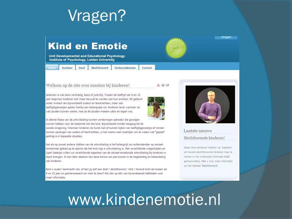 Vragen? www.kindenemotie.nl