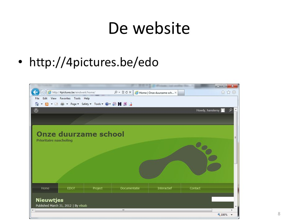 De website http://4pictures.be/edo 8