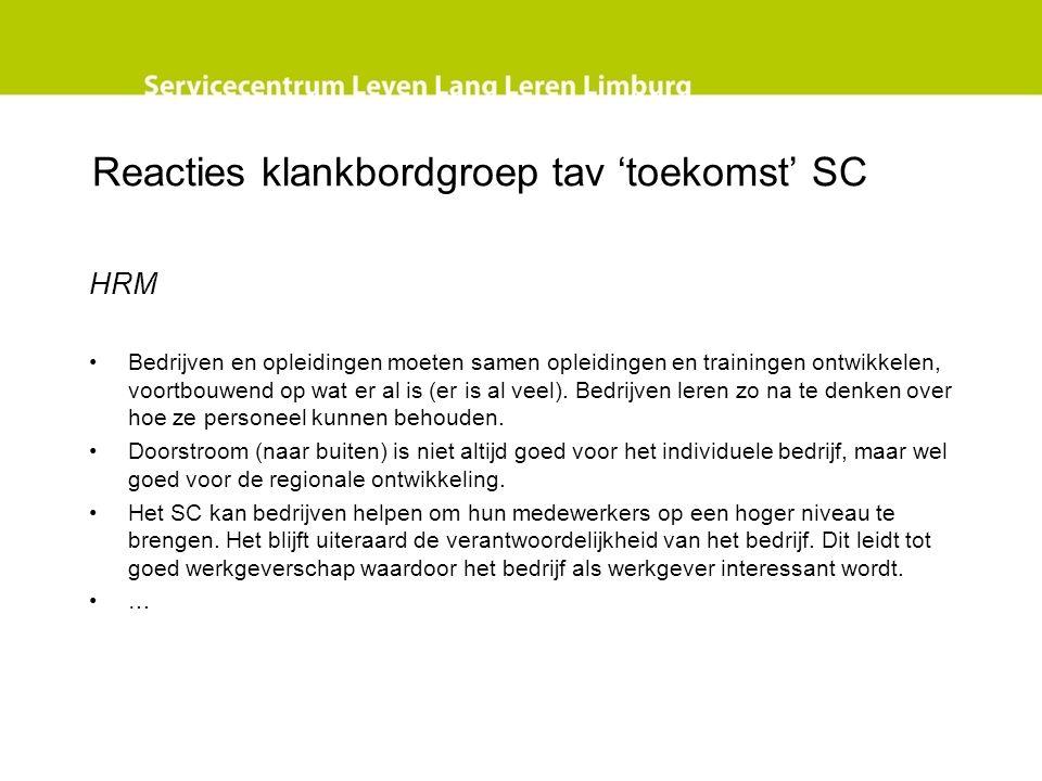 Reacties klankbordgroep tav 'toekomst' SC Loket.