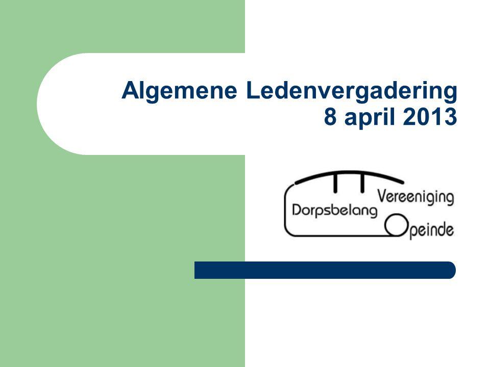 Algemene Ledenvergadering 8 april 2013