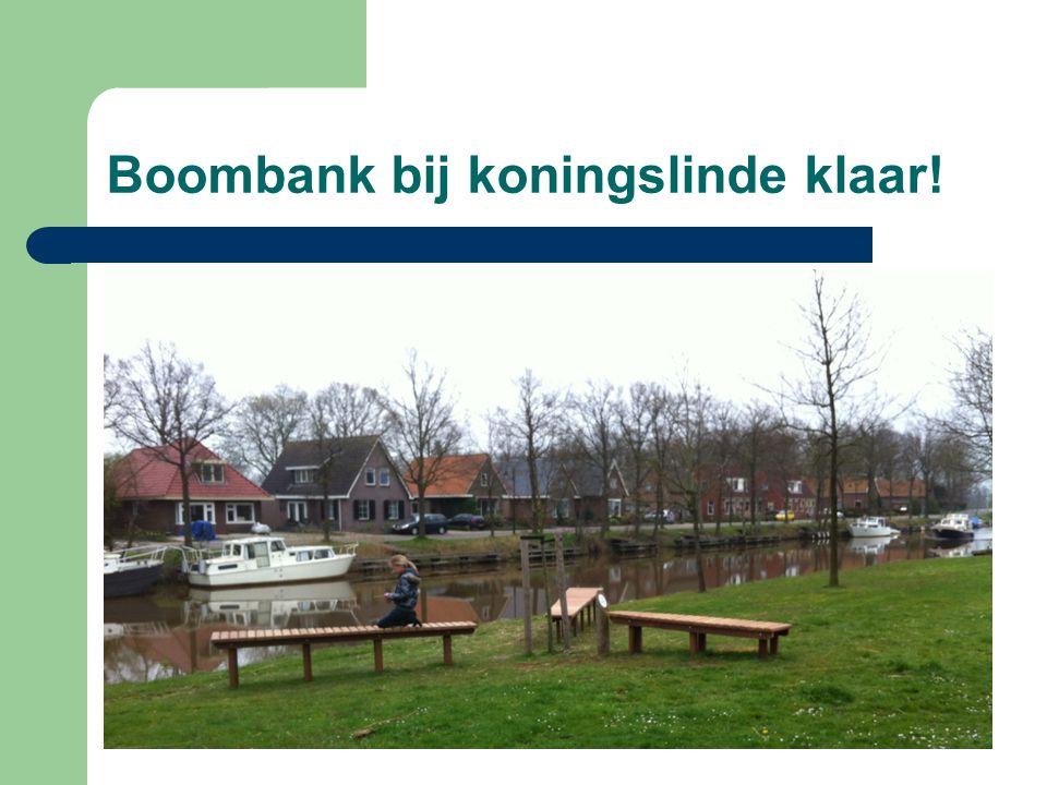 Boombank bij koningslinde klaar!