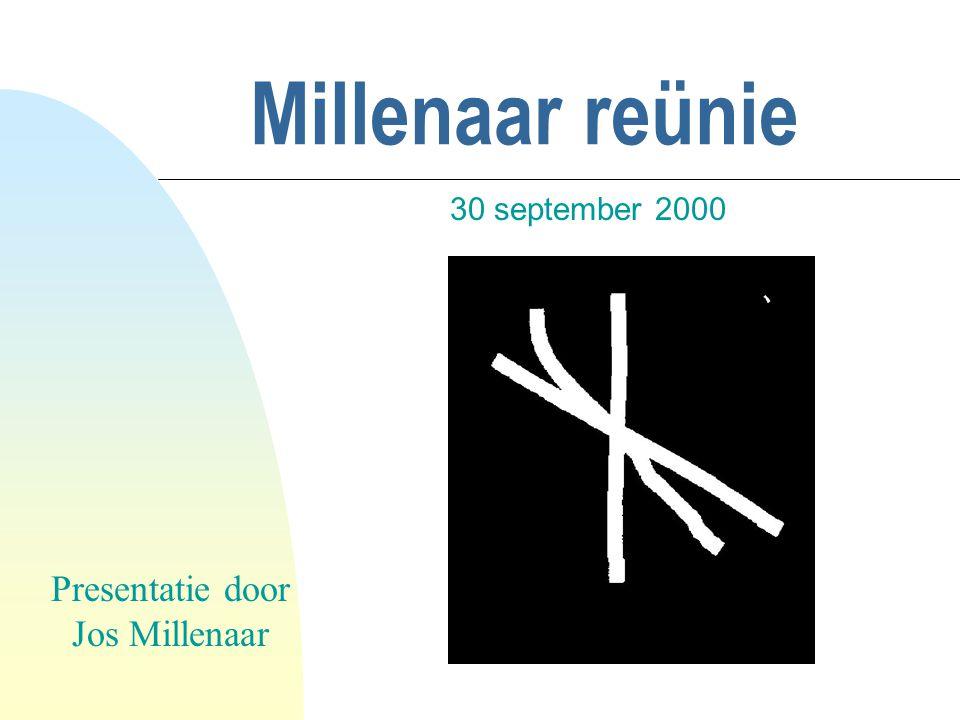 Millenaar reünie 30 september 2000 Presentatie door Jos Millenaar