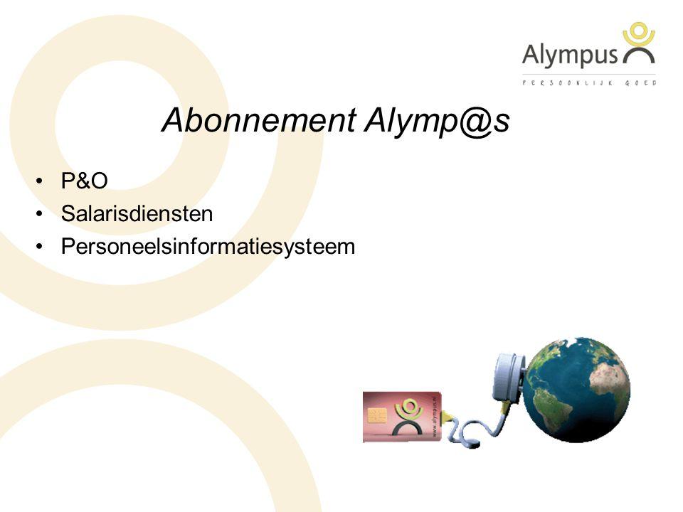 Abonnement Alymp@s P&O Salarisdiensten Personeelsinformatiesysteem