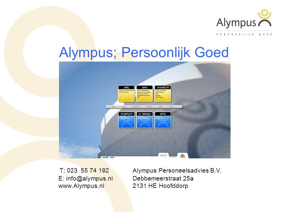 Alympus; Persoonlijk Goed T: 023 55 74 192Alympus Personeelsadvies B.V.