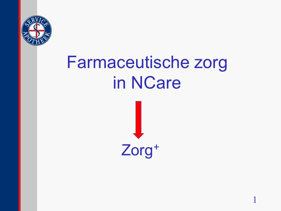 Service Apotheek Zorgconcept Oude  Nieuwe situatie Eerste- en Tweede Uitgifte Vervolg uitgifte Zorg+ Casussen Vastleggen in Zorg+ Afsluiting 2
