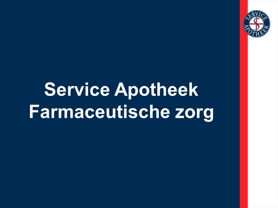 Service Apotheek Farmaceutische zorg