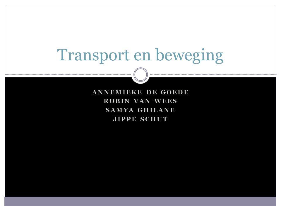 ANNEMIEKE DE GOEDE ROBIN VAN WEES SAMYA GHILANE JIPPE SCHUT Transport en beweging