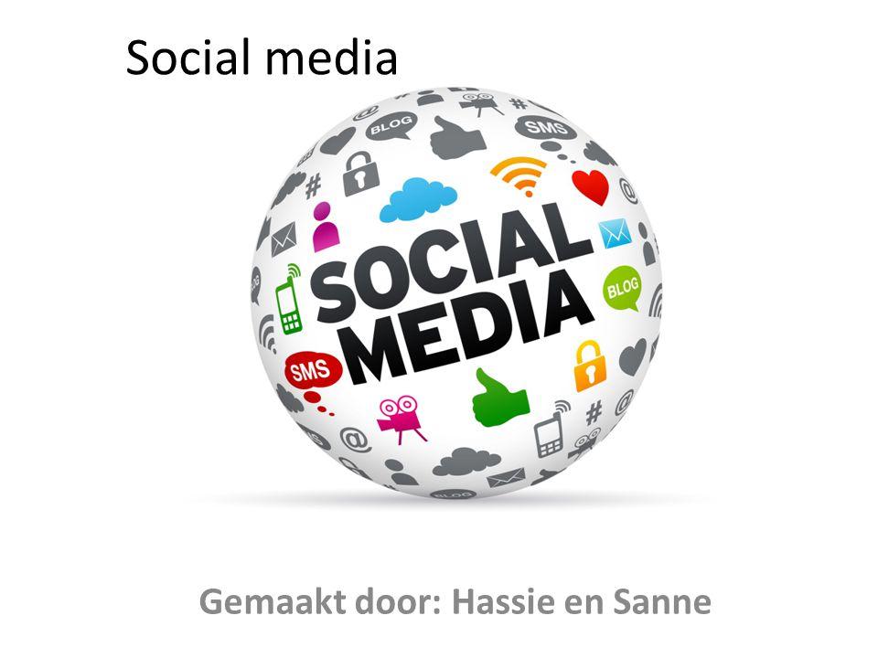 Social media Gemaakt door: Hassie en Sanne