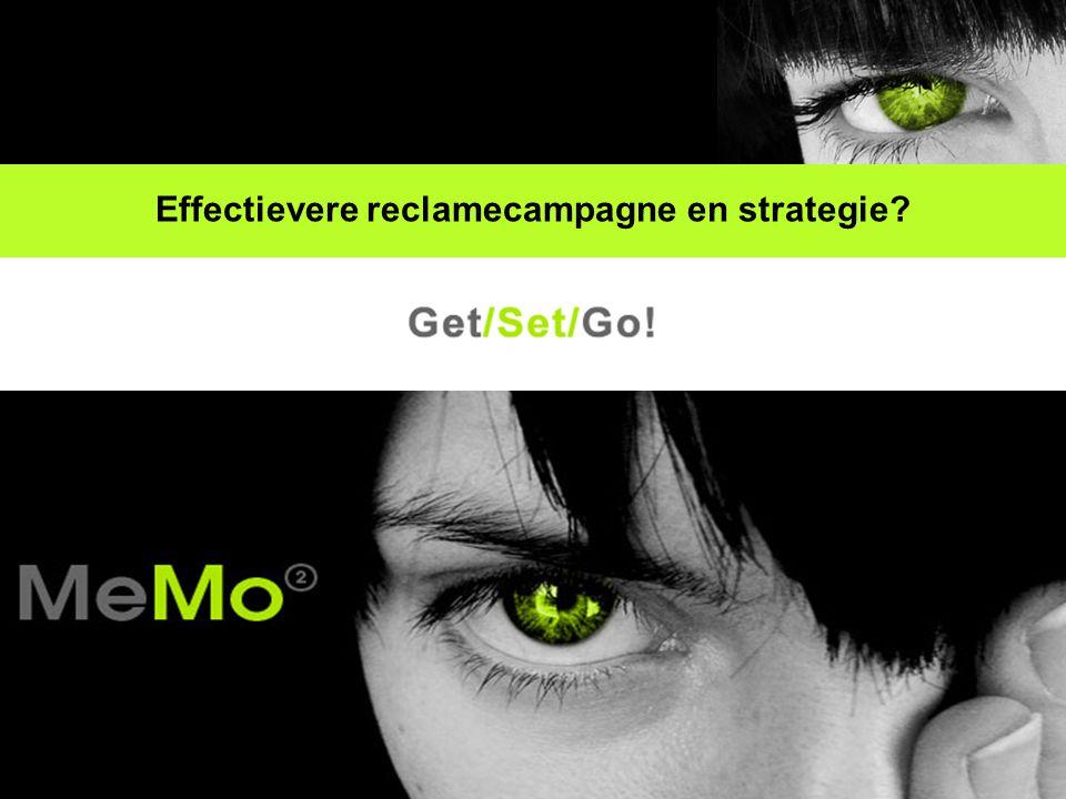 MeMo² garandeert u middels Get/Set/Go.een aantoonbaar effectievere (crossmediale) campagne.