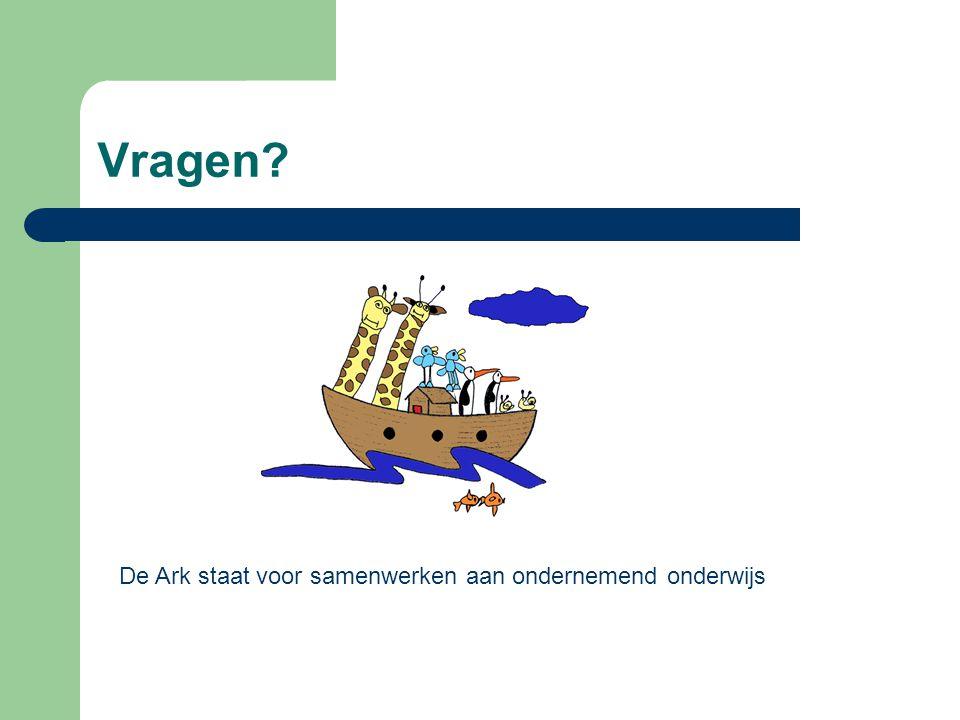 Vragen? De Ark staat voor samenwerken aan ondernemend onderwijs