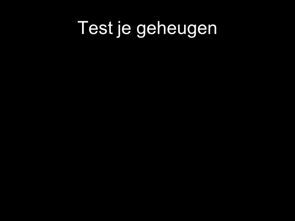 Test je geheugen