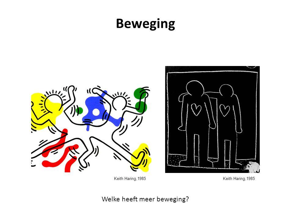 Keith Haring,1985 Beweging Welke heeft meer beweging? Keith Haring,1985