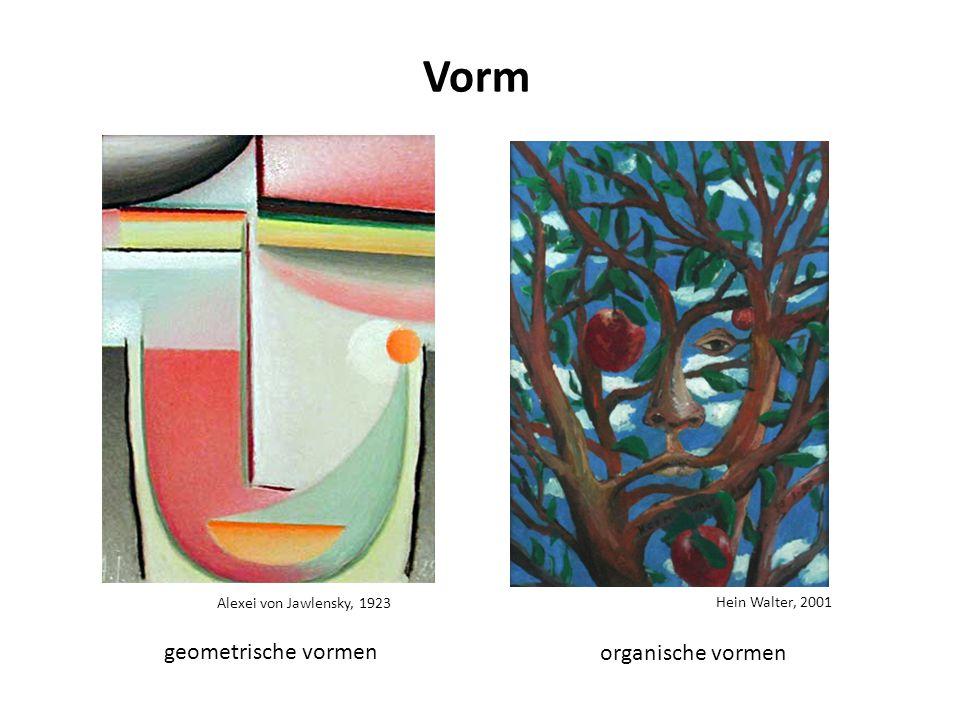 Alexei von Jawlensky, 1923 Vorm Hein Walter, 2001 geometrische vormen organische vormen