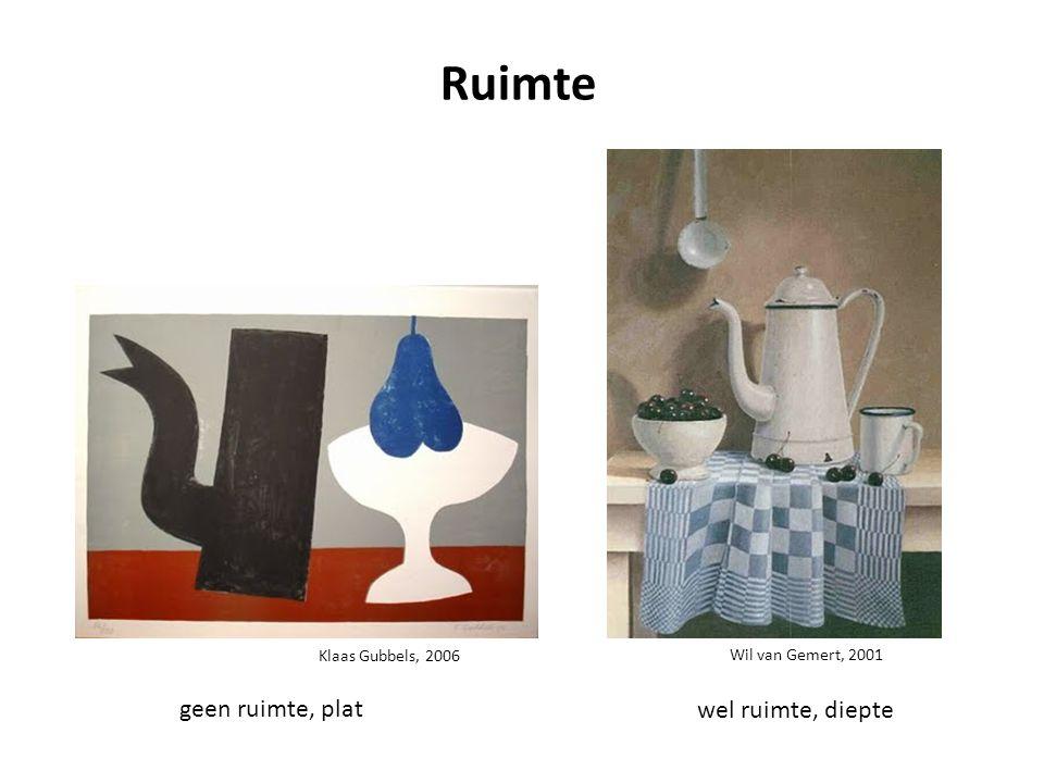 Klaas Gubbels, 2006 Wil van Gemert, 2001 Ruimte geen ruimte, plat wel ruimte, diepte