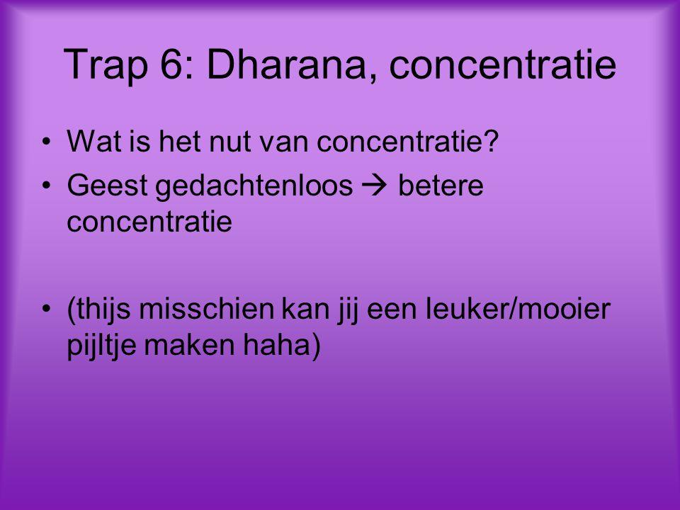 Trap 6: Dharana, concentratie Wat is het nut van concentratie.