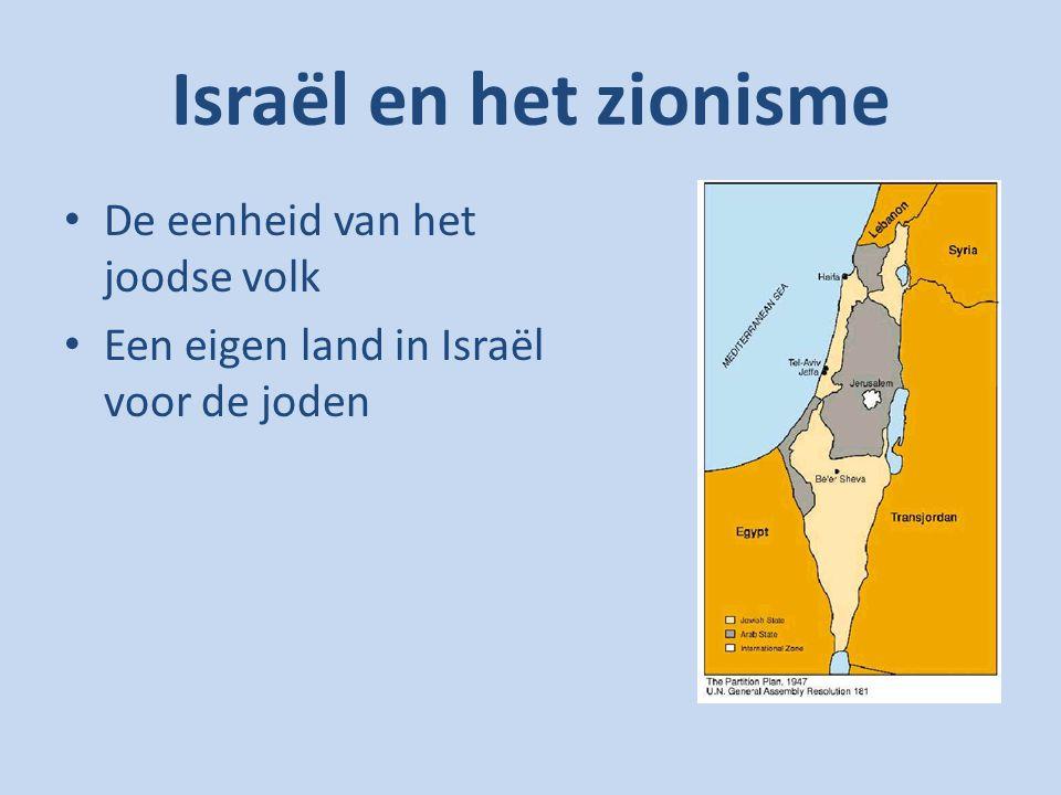 De geschiedenis van vervolging en overleving Tweede Wereldoorlog Sympathie voor de joodse staat Israël
