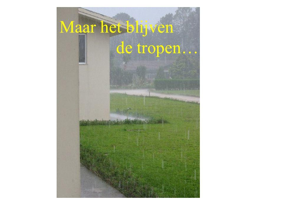 …maar na regen komt zonneschijn !!!