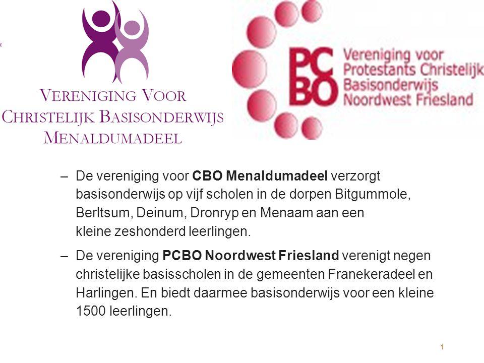 –De vereniging voor CBO Menaldumadeel verzorgt basisonderwijs op vijf scholen in de dorpen Bitgummole, Berltsum, Deinum, Dronryp en Menaam aan een kleine zeshonderd leerlingen.
