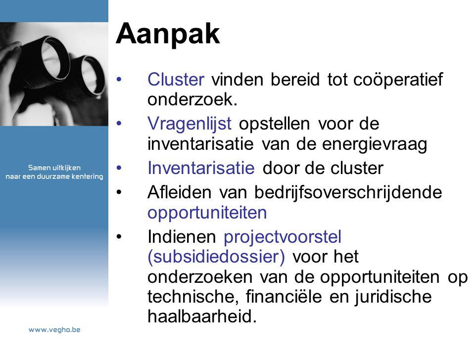 Aanpak Cluster vinden bereid tot coöperatief onderzoek.