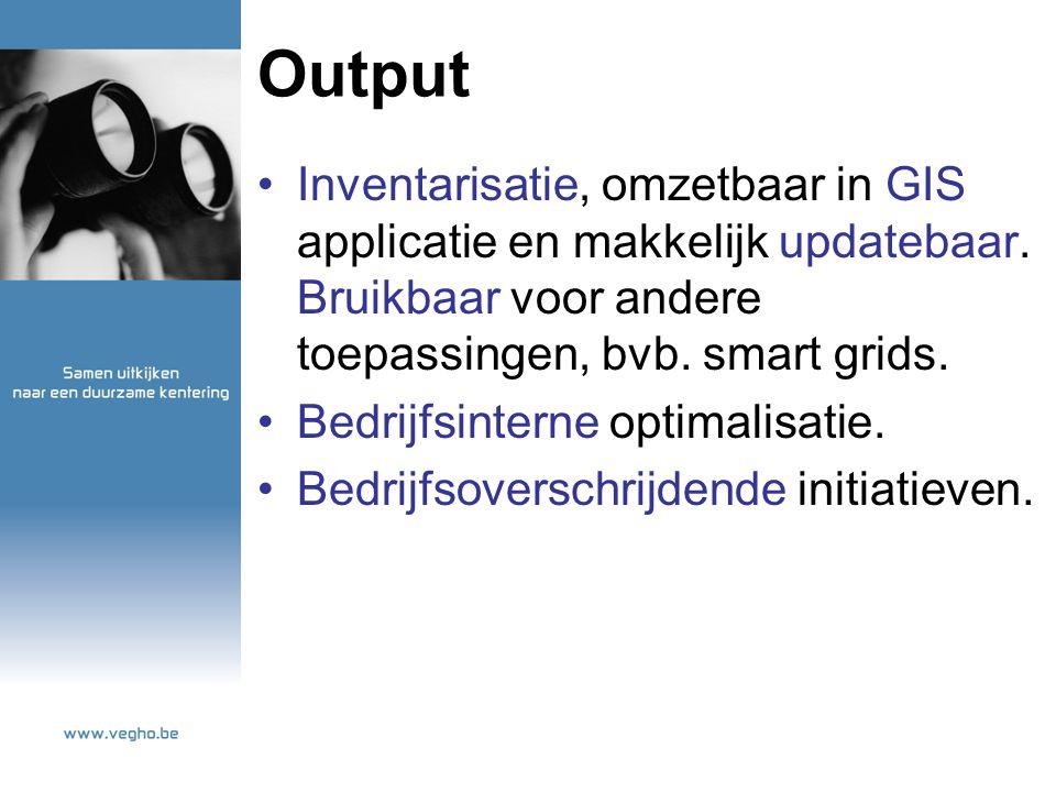 Output Inventarisatie, omzetbaar in GIS applicatie en makkelijk updatebaar.