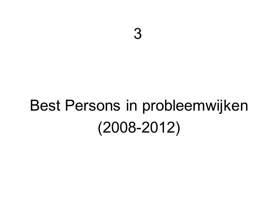 3 Best Persons in probleemwijken (2008-2012)