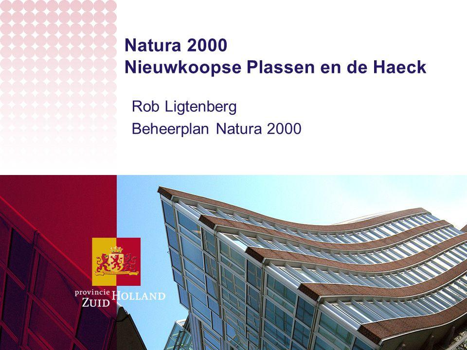 Natura 2000 Nieuwkoopse Plassen en de Haeck Rob Ligtenberg Beheerplan Natura 2000