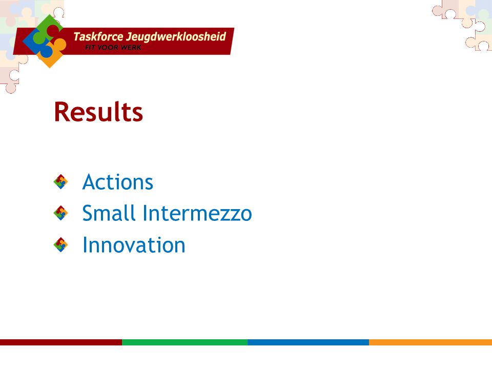 Results Actions Small Intermezzo Innovation