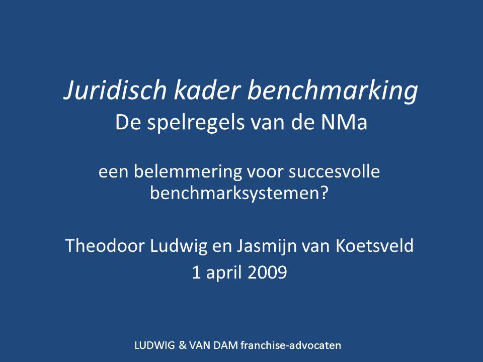 Juridisch kader benchmarking De spelregels van de NMa een belemmering voor succesvolle benchmarksystemen.