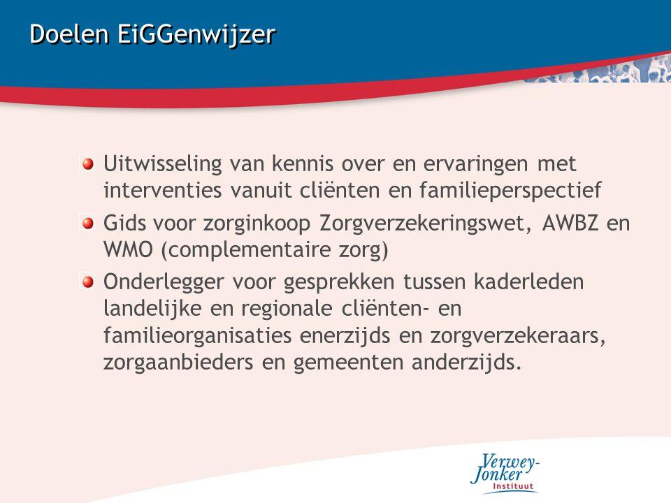Proces van zorginkoop Zorgverzekeringswet: Interventies in combinatie met behandeling AWBZ: Samenstelling zorgzwaartepakketten WMO: Informatie en ondersteuning van GGZ cliënten (b.v.