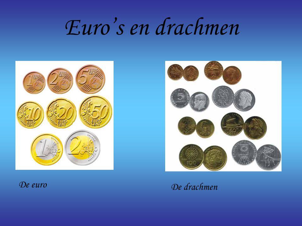 Euro's en drachmen De euro De drachmen