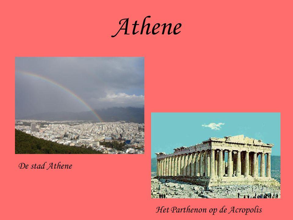 Athene De stad Athene Het Parthenon op de Acropolis